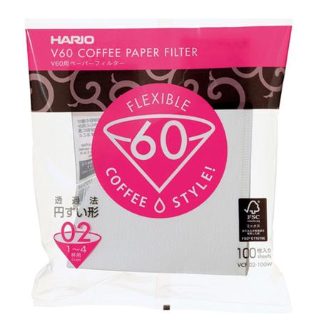 Filtry papierowe do dripa Hario V60-02 100szt
