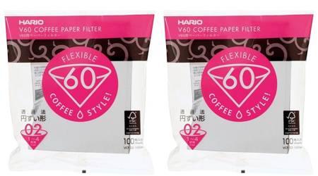 Filtry papierowe do dripa Hario V60-02 2x100szt