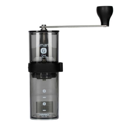 Hario Smart G Coffee Mill Przezroczysty Czarny - ręczny młynek do kawy